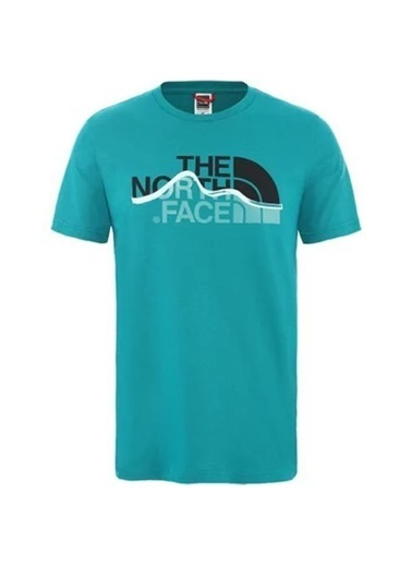 The North Face Mountain Line Erkek T-Shirt Yeşil Yeşil